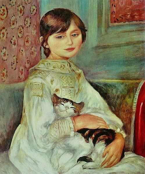 Julie Manet with cat, Pierre-Auguste Renoir, 1887, Musée d'Orsay, Paris, Julie Manet - The Beauty of Impressionism