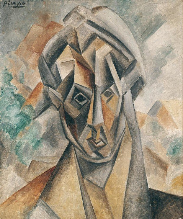 Portrait of Fernande Olivier, Pablo Picasso, 1909, Städel Museum, Frankfurt, Germany, Pablo Picasso and his Women