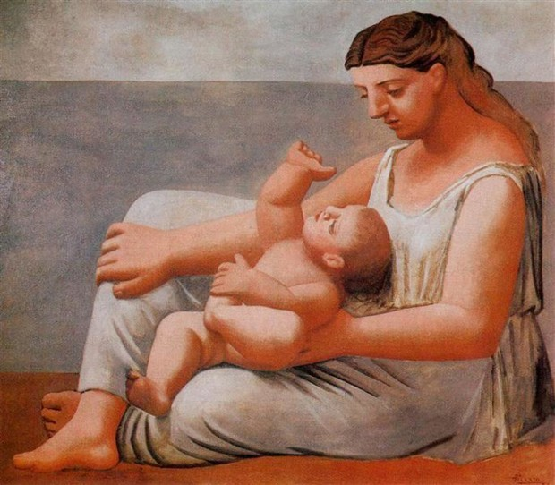 Woman with child, Pablo Picasso, 1921, Art Institute, Chicago, Pablo Picasso and his Women