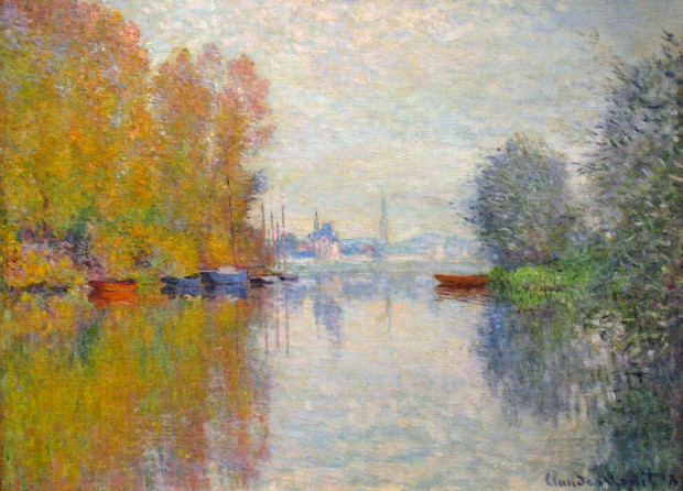 autumn paintings by famous artists Autumn on the Seine at Argenteuil, 1873 - Claude Monet, High Museum of Art