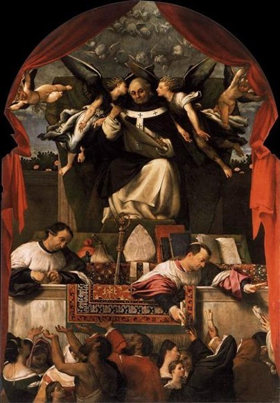 Lorenzo Lotto, The Charity of Saint Anthony, 1542, Church of Saints Giovanni and Paolo, Venice, ottoman carpets in Renaissance Paintings