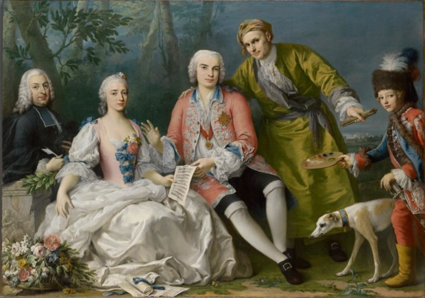 Jacopo Amigoni, The singer Farinelli and friends, c. 1750-1752), National Gallery of Victoria, Melbourne farinelli in portraits