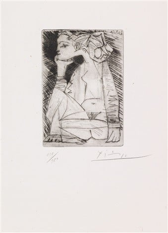 Femme assise en tailleur - Geneviève Laporte, Pablo Picasso, 1951, Private Collection, Pablo Picasso and his Women