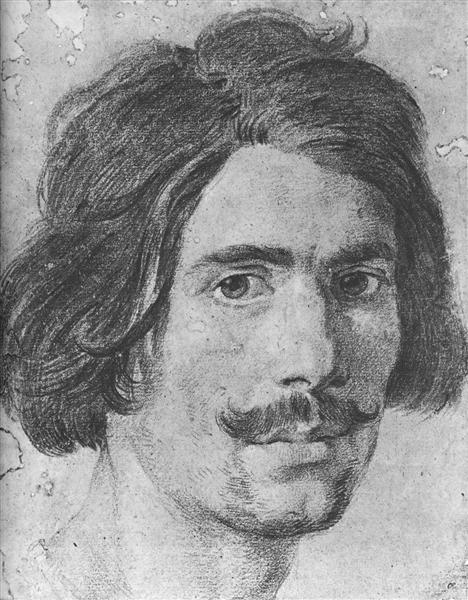 Gian Lorenzo Bernini, Portrait of a Man with a Moustache (Supposed Self Portrait), c.1630, Ashmolean Museum, Oxford, artsy mustache