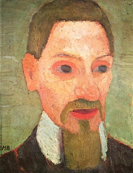 Paula Modersohn-Becker, Portrait of Rainer Maria Rilke, 1906, Louisiana Museum of Modern Art, artsy mustache