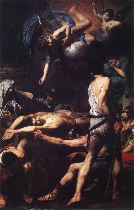 Valentin de Boulogne, The Martyrdom of Sts. Processus and Martinian, 1629, St. Peter's, Rome., Poussin a Barouqe artist