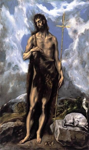 El Greco, St. John the Baptist, 1600, Fine Arts Museums of San Francisco, San Francisco, CA, US, saints attributes