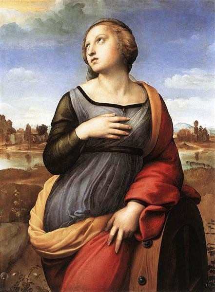 Raphael, St. Catherine of Alexandria, 1508, National Gallery, London, saints attributes