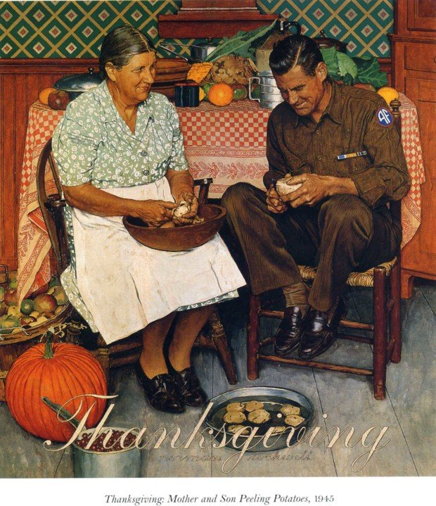 Norman Rockwell, Home for Thanksgiving, 1945, Norman Rockwell Museum Norman Rockwell thanksgiving