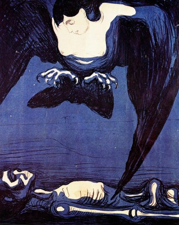 Edward Munch, Harpy, 1894 Greek mythological creatures