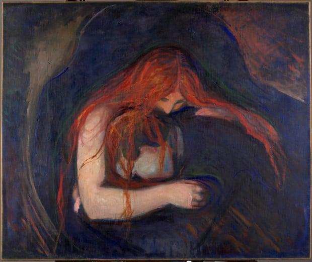 Edvard Munch, Vampire, 1893-94, Oslo, Munch Museum