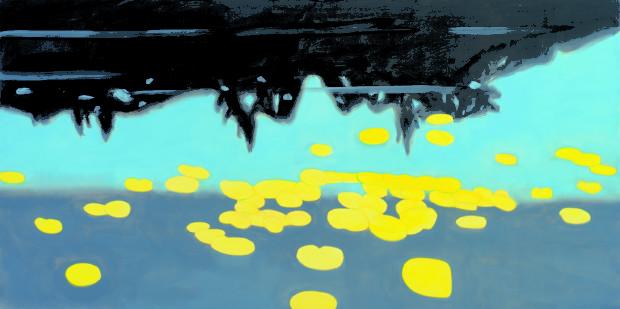Alex Katz, Homage to Monet 7 (1999), courtesy MdM Mönchsberg Alex Katz and His New York