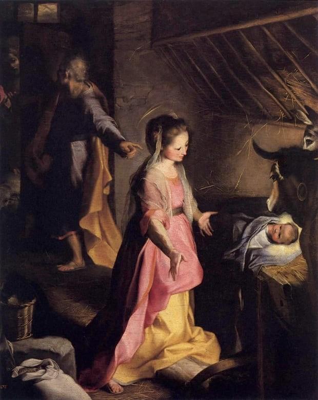 The Nativity, Federico Barrocci, 1597, Museo del Prado, Madrid, Christmas in Art