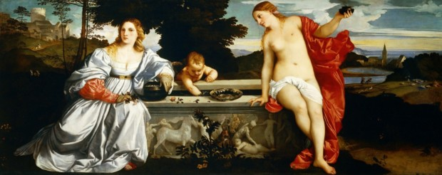 Titian, Sacred and Profane Love, 1514, Galleria Borghese, Rome