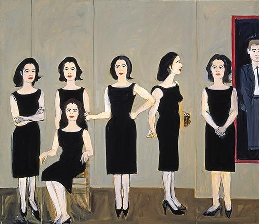 Alex Katz The Black Dress, 1960 Alex Katz and His New York