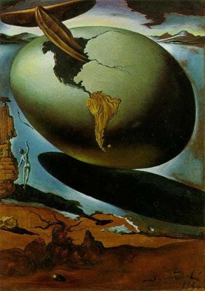Salvador Dali , Allegory of an American Christmas, 1934, Private Collection, christmas in paintings