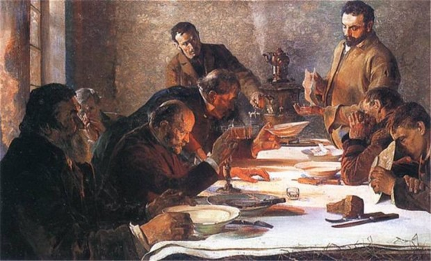 Jacek Malczewski, Christmas Eve in Siberia, 1892, National Museum in Cracow, christmas in paintings