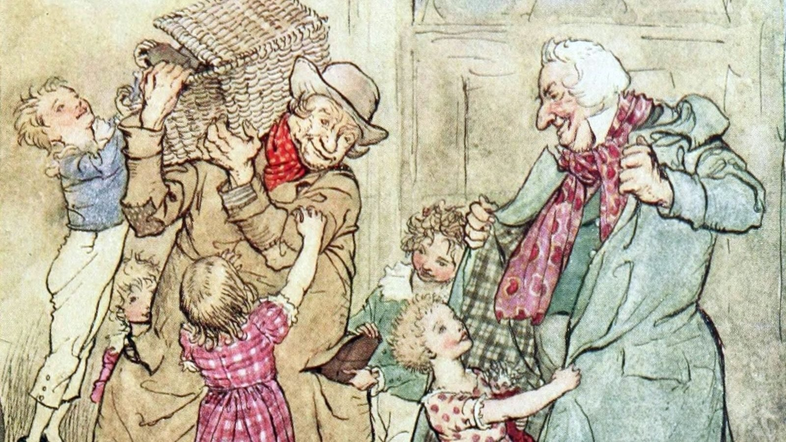 Christmas Illustrations.Rackham S Christmas Carol Illustrations Dailyartmagazine