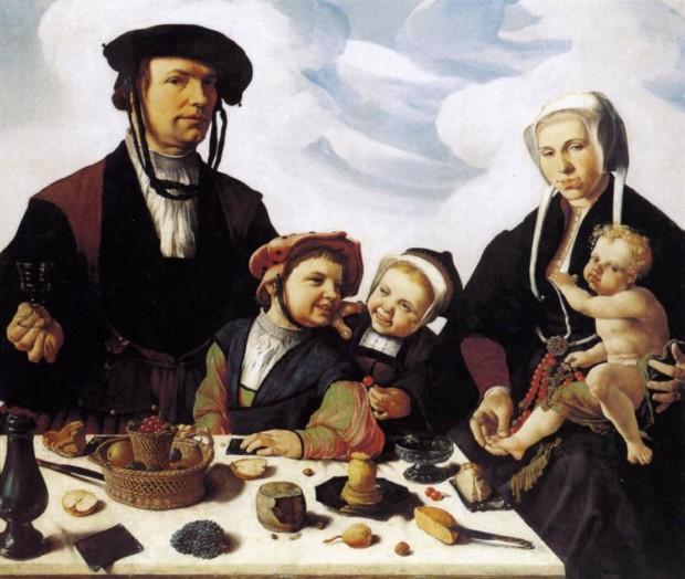 Maerten van Heemskerck, Portrait of Peter Jan Foppeszoon and his Family, (c.1530), Kassel,Staatliche Museen, 16th-Century Dutchmen