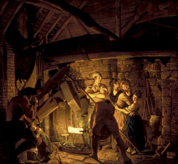Joseph Wright 'of Derby', An Iron Forge, 1772, London, Tate, enlightenment joseph wright