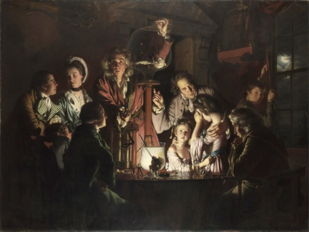 Joseph Wright 'of Derby', An Experiment on a Bird in the Air Pump, 1768, London, National Gallery, enlightenment joseph wright