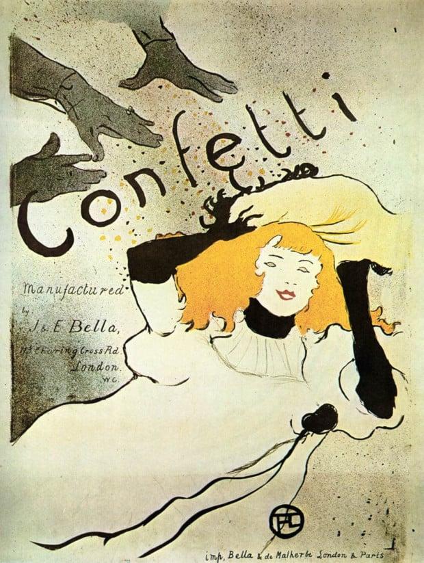 Posters 19th century Henri de Toulouse-Lautrec, Confetti, 1894, Metropolitan Museum of Art
