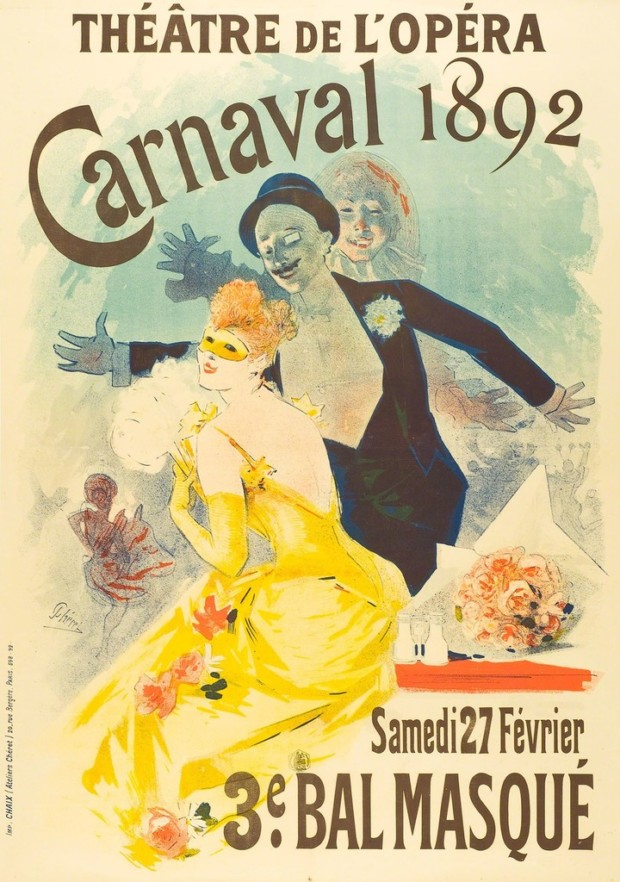 Posters 19th centuryJules Cheret, Carnival at the Theatre de l'Opera, 1892