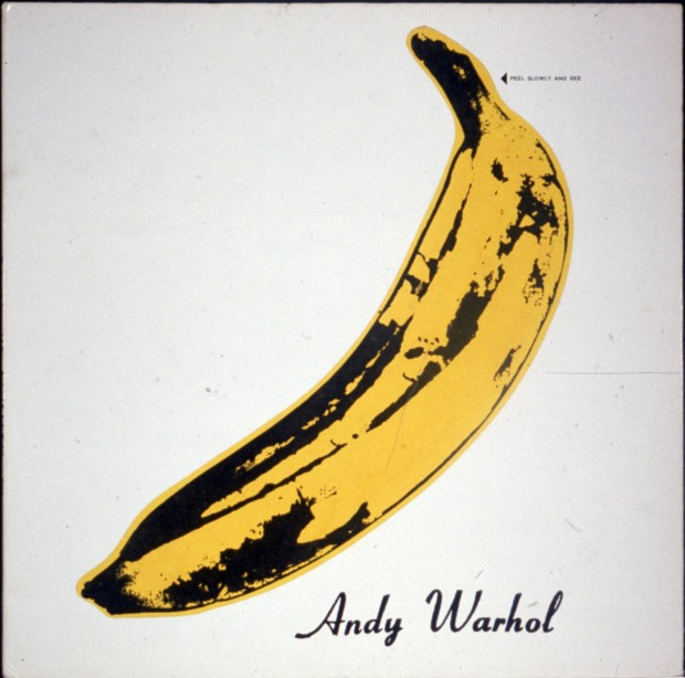 "velvet underground warhol cover Album cover designed by Andy Warhol for rock group ""The Velvet Underground"" record ""The Velvet Underground & Nico"""