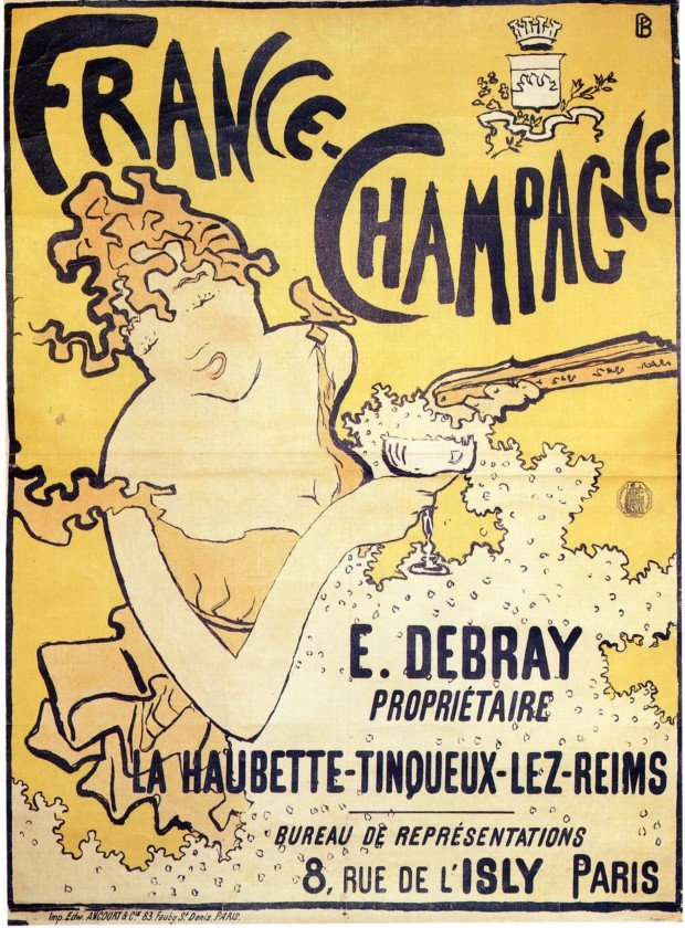 Posters 19th century Pierre Bonnard, France Champagne, 1891