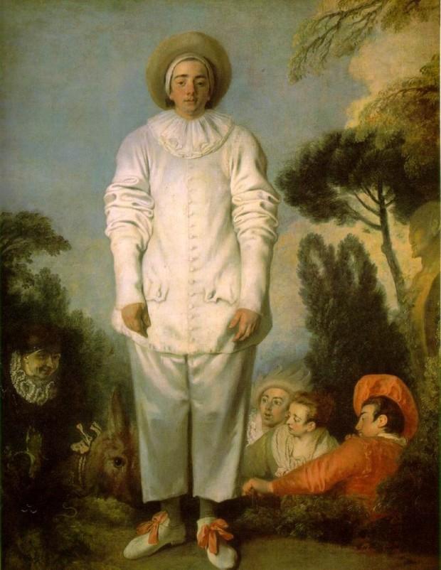 Jean-Antoine Watteau, Pierrot (formerly known as Gilles), c.1718-19, Paris, Louvre, watteau mysteries rococo