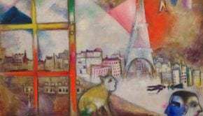 Marc Chagall, Paris through the Window, 1913, Solomon R. Guggenheim Museum, New York, Solomon R. Guggenheim Founding Collection, By gift, © 2017 Artists Rights Society (ARS), New York/ADAGP, Paris