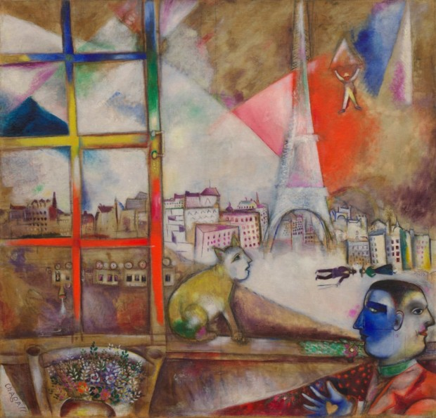 Marc Chagall Paris Through The Window Dailyartmagazine Art