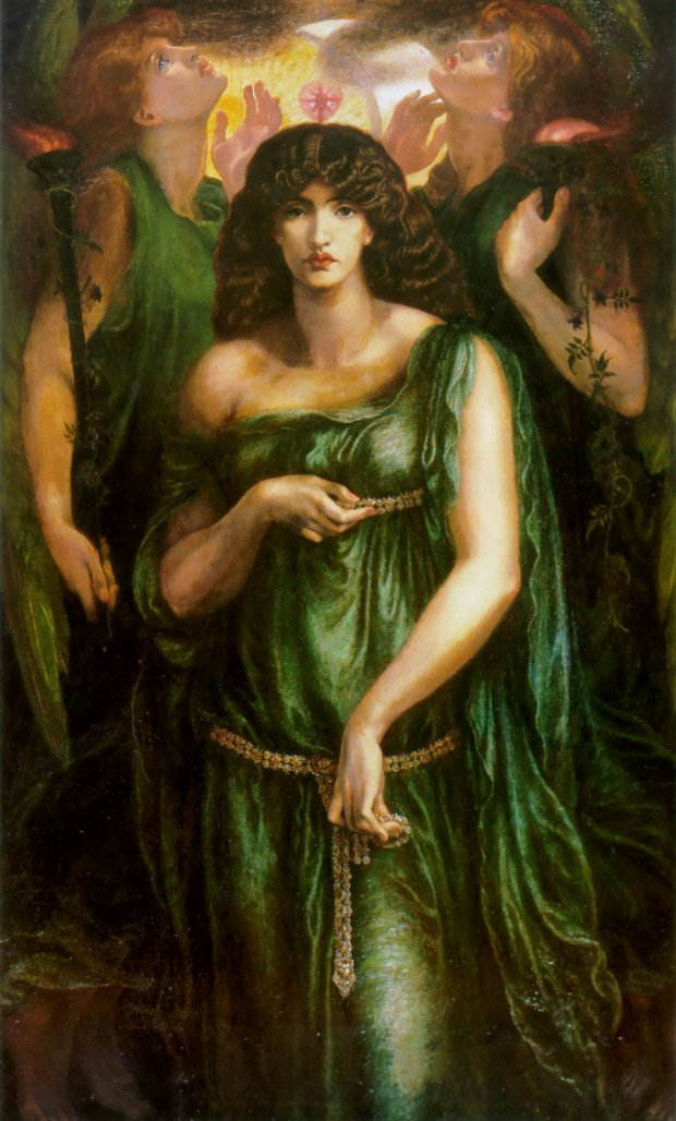 Jewellery in Rossetti's paintings Astarte-Syriaca, Dante Gabriel Rossetti
