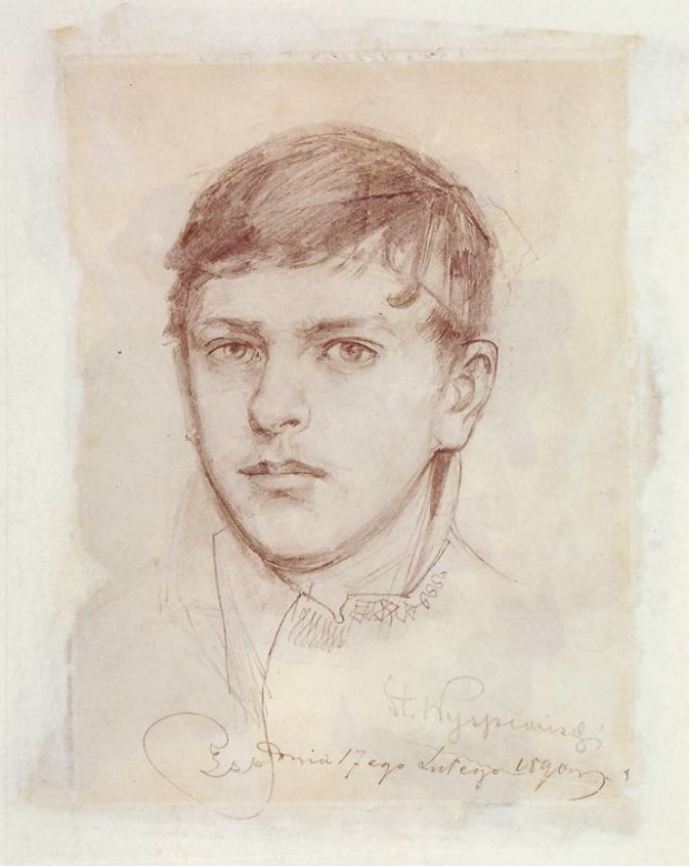 Autoportrait, Stanisław Wyspiański, 1890, National Museum in Cracow, tanisław Wyspiański and his many talents