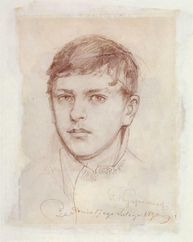 Autoportrait, Stanisław Wyspiański, 1890, National Museum in Cracow, tanisław Wyspiański and his many talents