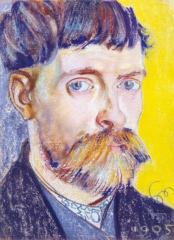 Autoportrait, Stanisław Wyspiański, 1905, Private Collection, Stanisław Wyspiański and his many talents