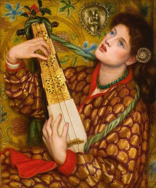 Jewellery in Rossetti's paintings Dante_Gabriel_Rossetti_-_A_Christmas_Carol