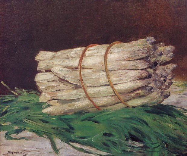 Edouard_Manet_Bunch_of_Asparagus 1880, In Wallraf-Richartz Museum, Cologne Manet and Saint Francis