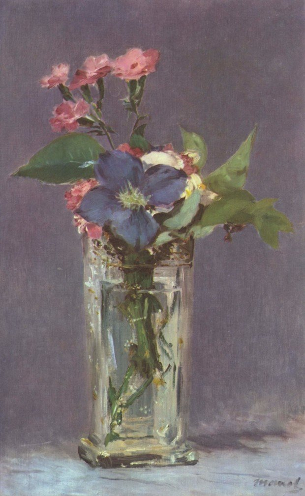 Edouard Manet, Carnations and Clematis, 1882, in Musee d'Orsay, Paris Manet and Saint Francis