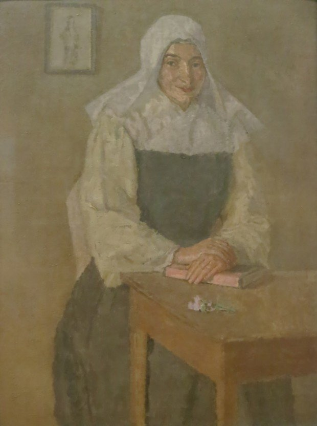 Gwen John, Mere Poussepin seated at a Table, 1913, National Museum Wales
