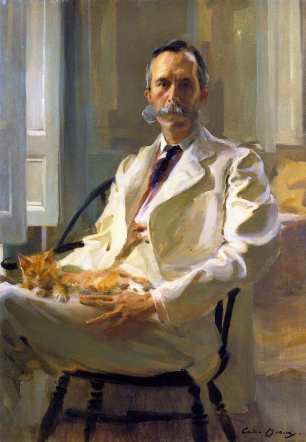 Cecilia Beaux Man with the Cat Portraiture of Cecilia Beaux