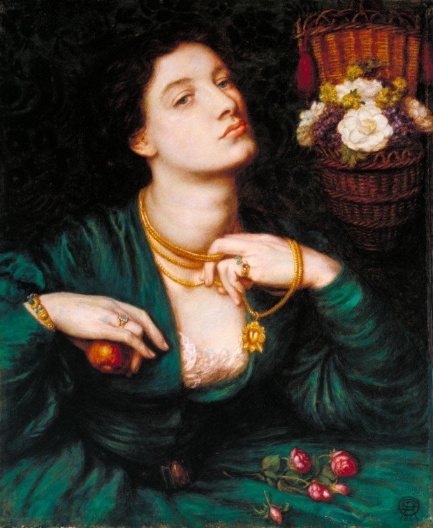 Jewellery in Rossetti's paintings Monna Pomona 1864 by Dante Gabriel Rossetti 1828-1882, gold bracelet