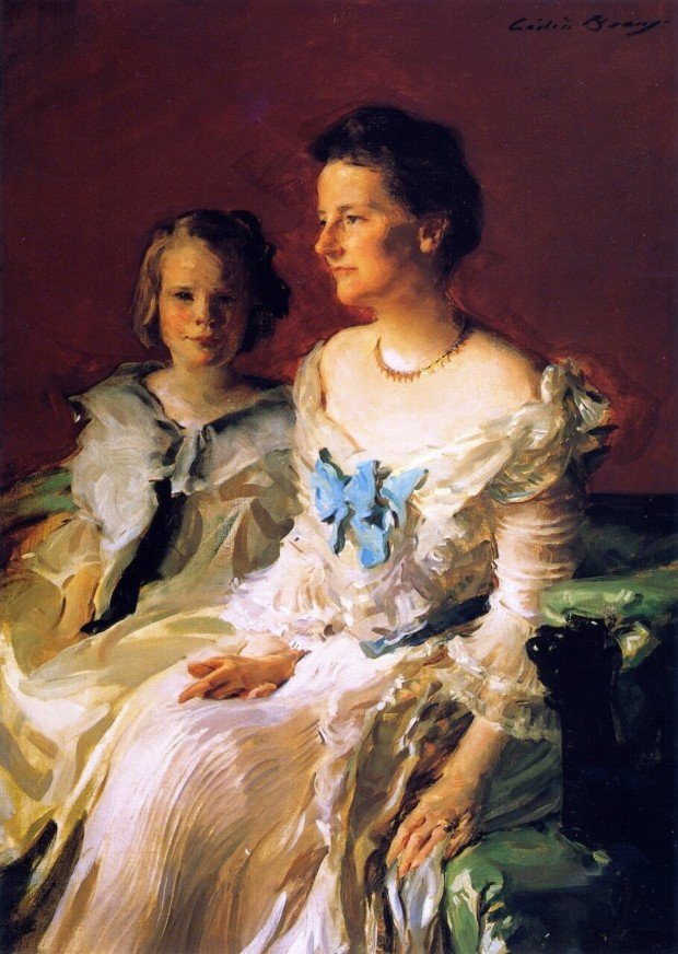 Cecilia Beaux Mrs. Theodore Roosevelt and Her Daughter Ethel Portraiture of Cecilia Beaux
