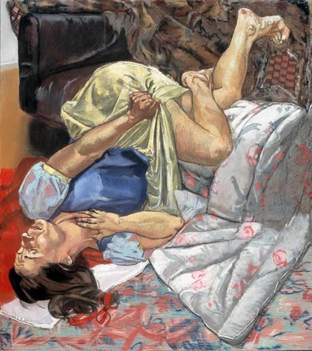 Paula Rego, Snow White Swallows the Poisoned Apple, 1995, Source: The Saatchi Gallery Paula Rego's World