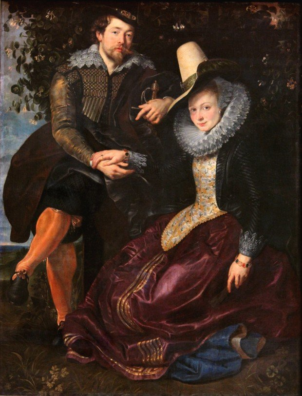 Fernando Botero masterpieces Peter Paul Rubens. Peter Paul Rubens - The Artist and His First Wife, circa 1609, Alte Pinakothek Munich
