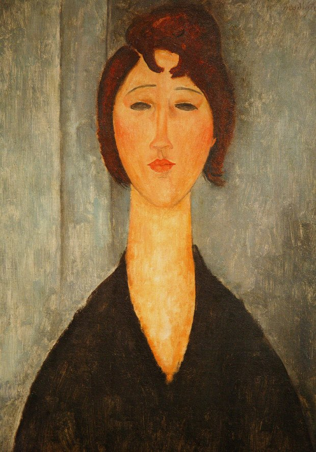 Portrait of a Young Woman, Amadeo Modigliani, 1918, New Orleans Museum of Art, The History of Amadeo Modigliani's Portraits