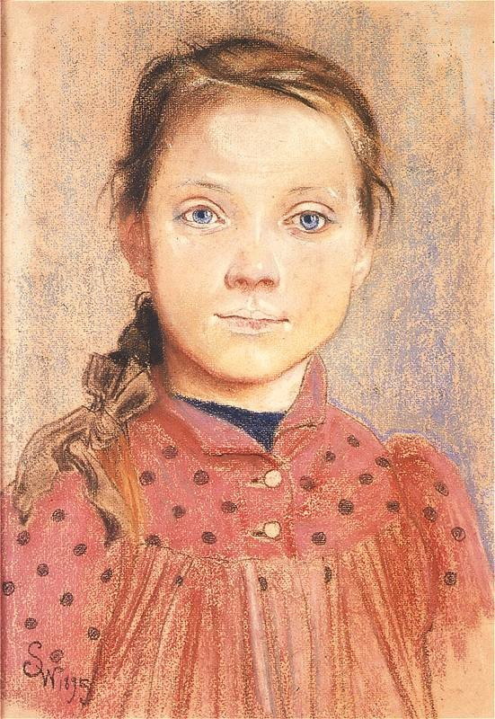 Portrait of a girl, Stanisław Wyspiański, 1895, National Museum in Warsaw, Stanisław Wyspiański and his many talents