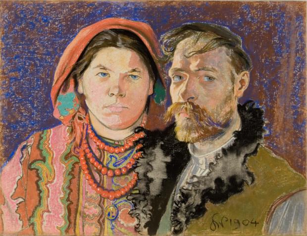 Autoportrait with wife, Stanisław Wyspiański, 1904, National Museum in Cracow, Stanisław Wyspiański and his many talents