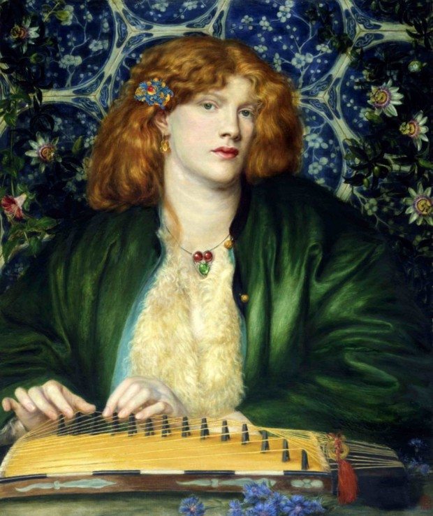Jewellery in Rossetti's paintings Dante Gabriel Rossetti, The Blue Bower, 1865, The Barber Institute of Fine Arts, Birmingham