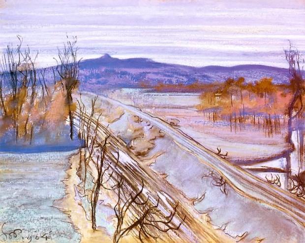 The View on Kościuszko Mound, Stanisław Wyspiański, 1904, Silesian Museum in Katowice, Stanislaw Wyspiański and his many talents